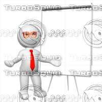 3D Man with presentation board 2
