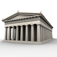 doric order greek temple 3d model