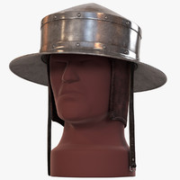 pointed kettle hat chapel 3d model