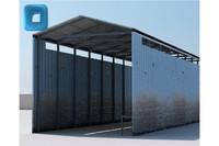 factory hangar 3d model