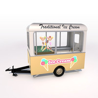 3ds max ice cream trailer