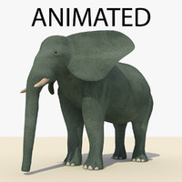 blue elephant animations 3d c4d