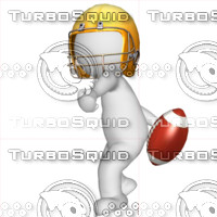 3D Football player 1