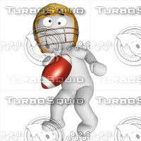 3D Football player 4
