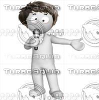 3D Man singing 2