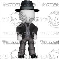 3D Man with dress suit 1