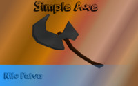 Simple Axe Lowpoly