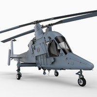 kman kmax kaman helicopter 3d model