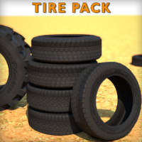 obj low-poly tire