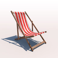 3d 3ds deck chair - weathered