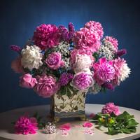 Pionea spiraea bouquet