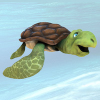 3d model sea turtle cartoon