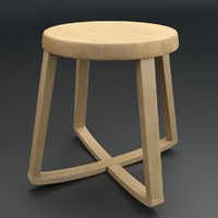 3d model monarchy stool
