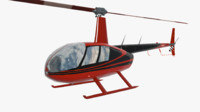 helicopter robinson r44 3ds