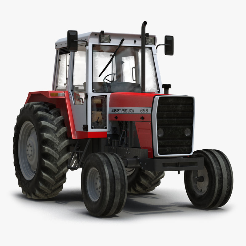 Vintage Tractor Ferguson 698 Rigged 3d model 01.jpg