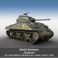 3d model m4a2 sherman - m4