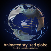 3d c4d stylized globe animation
