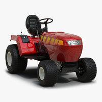 3d model small tractor rigged