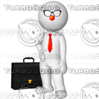 3D Man with a briefcase 6
