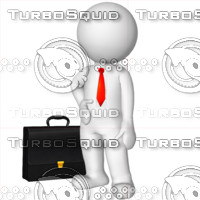3D Man with a briefcase 4