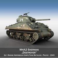 3d m4a2 sherman - m4 model