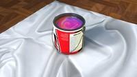3d gallon paint model