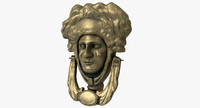 victorian door knocker 3d model