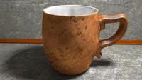 cracked cup 3d c4d