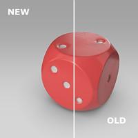 3d plastic dice model