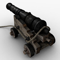 3ds max old cannon