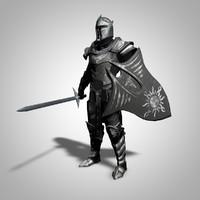 3d c4d fantasy knight