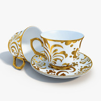 3d model of tea set