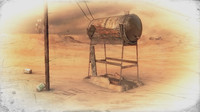 old rusty water tank 3d model