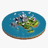 Low poly island