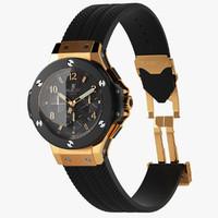 men s wrist watch 3d max