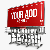 billboard sign 48 dxf