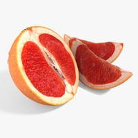 grapefruit cut 3d ma