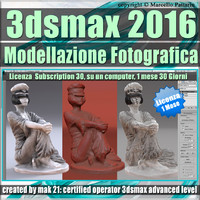 3ds max 2016 Modellazione Fotografica vol. 50 1 Mese Subscription