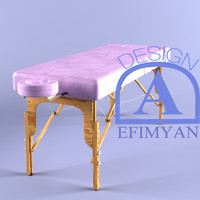 3d model massage table