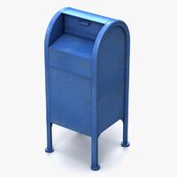3d model street mail box