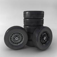 wheel car vaz 3d model