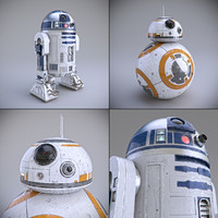 3d star wars bb-8 model