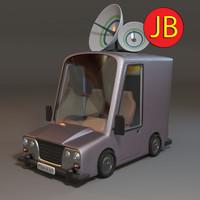 stylized van - 3d obj