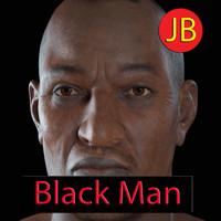 black man body 3d model