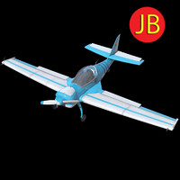 3d model of airplane arnold