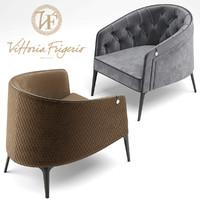 3d armchair vittoria frigerio model