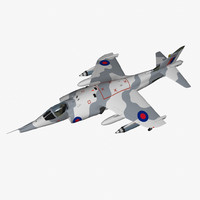 3d hawker siddeley harrier gr3