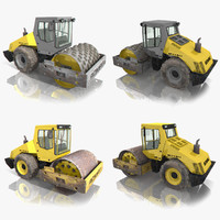 3ds max bomag road roller