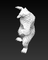 bear sculpture 3d obj