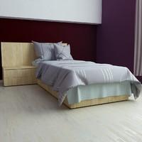 3d v-ray bed 80x200 model